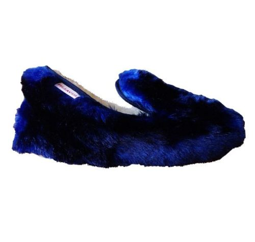 charentaise femme hiver glamour bleu nuit