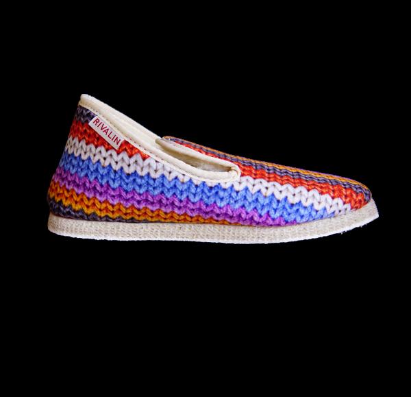 charentaise femme hiver tricot multicolore