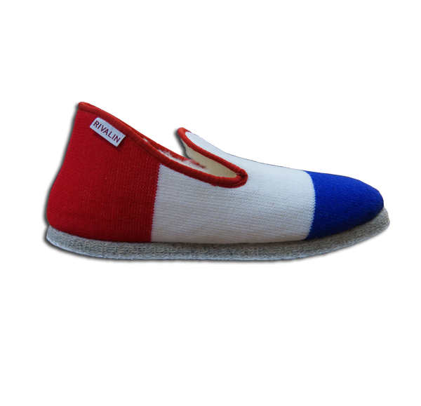 Charentaise Homme Hiver Frenchie bleu blanc rouge