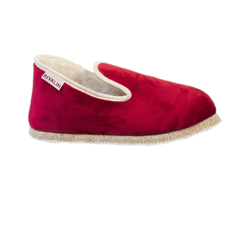 Chausson Velours Rouge