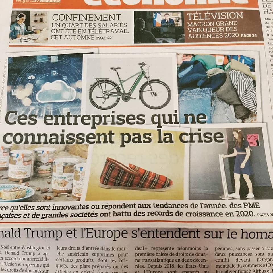 Article sur les charentaises Rivalin dans Le Figaro